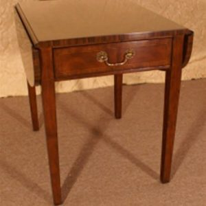 Leighton Hall Pembroke Drop Leaf Side Table, Mahogany. Never Used! Retails $1100