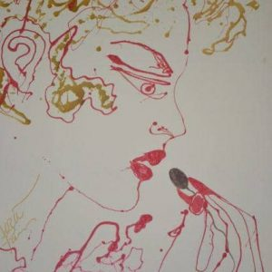 "Erotic, Mira Paris  ""Connoisseur Beauty"", Original Painting, 48"" x 36"", Year 1992"