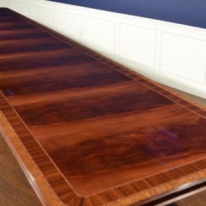 American Crafted Mahogany Dining Table 16, 20, 24, 28 Ft. Retail $17,000