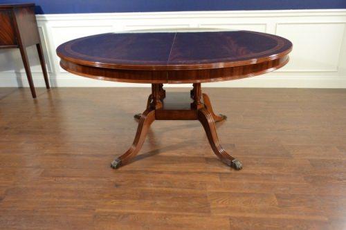 "Floor Sample, Leighton Hall Round Mahogany Dining Table, 60""Diameter, Retail $6,000"