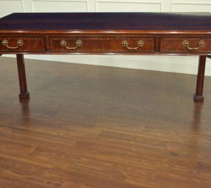 Leighton Hall Chippendale Writing Desk, Mahogany Desk. Never Used! Retails $4000