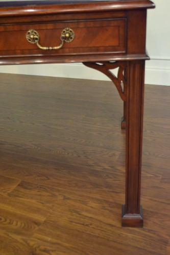 leighton hall chippendale writing desk mahogany desk never used retails - Mahogany Desk