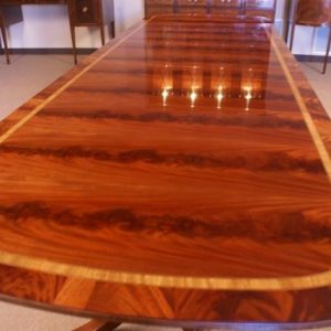 American Large Mahogany Conference Table, Table 13+ Long ft $14,000