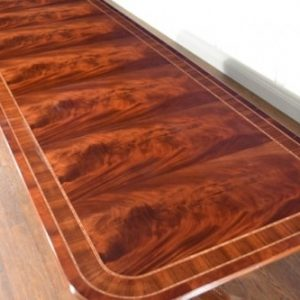 American Crafted Large 11 ft Long Mahogany Dining Table Retail $9,000