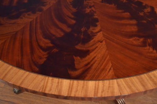 "Stunning Pie Cut Mahogany 60"" Round Dining Table American Made, Retails $7,000 LH-60"