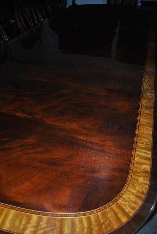 American Made Mahogany Dining Table, 10 ft. Long  $10,000