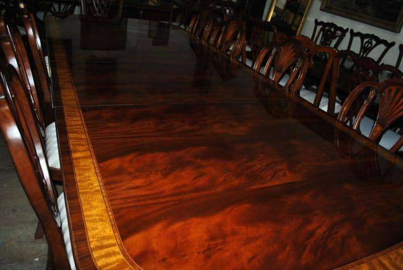 American made mahogany dining table 12 ft long 12 000 for 12 foot long dining room table