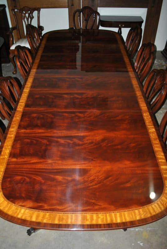 American made mahogany dining table 12 ft long 12 000 for 7 foot dining room table