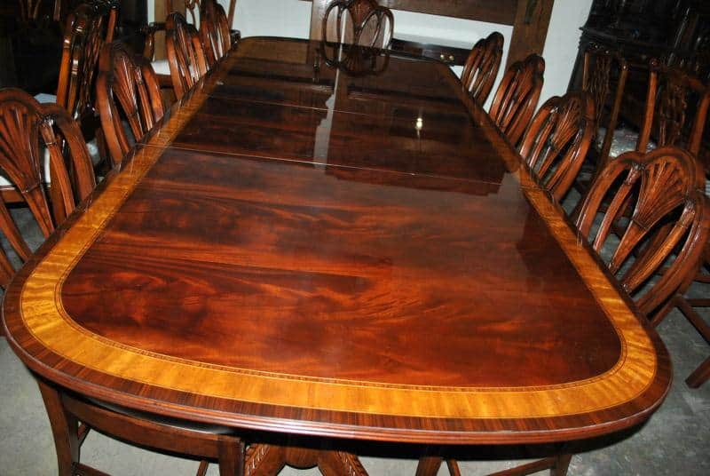 Made Mahogany Dining Table, 12 ft. Long $12,000