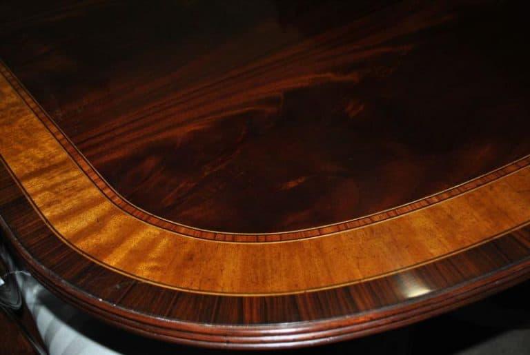 American Made Mahogany Dining Table, 12 ft. Long $12,000