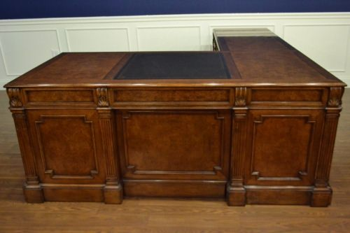 Leighton Hall Return Desk, L Shape, Mahogany Never Used! Retails $12000