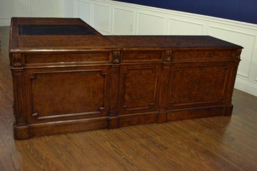 Leighton Hall Return Desk, L Shape, Mahogany Never Used! Retails $12000