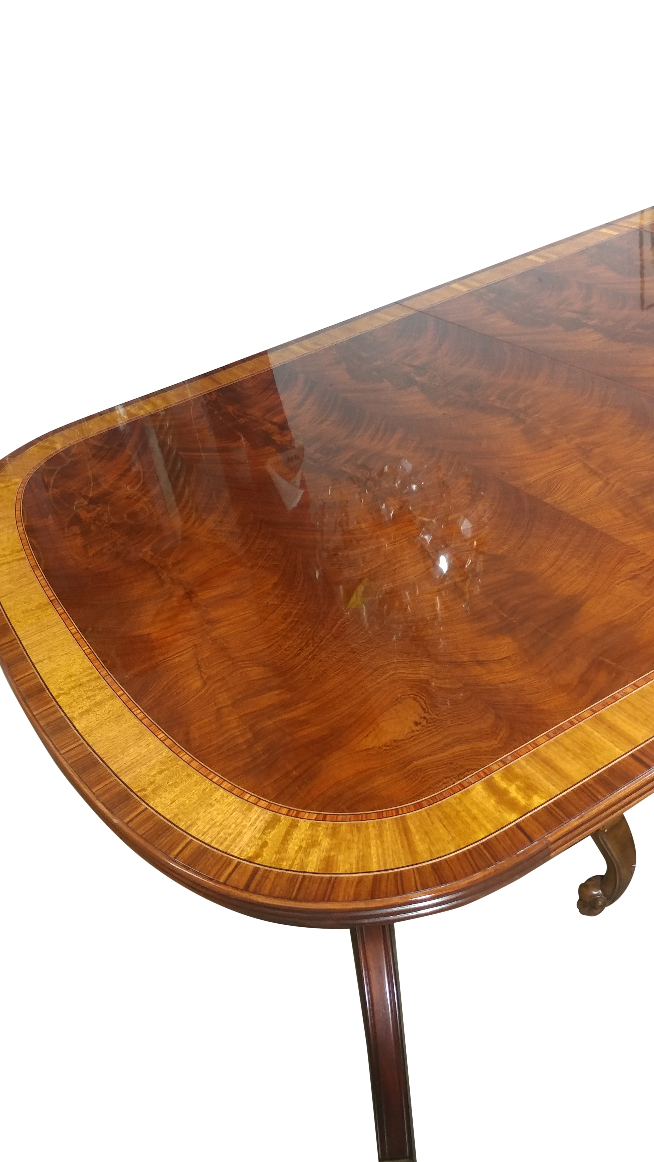 American Made Mahogany Dining Table, 12 ft. Long $12,000, LH-7-3L