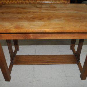 Antique Child's Size Oak Mission Arts & Crafts Library Table, Desk Circa 1920
