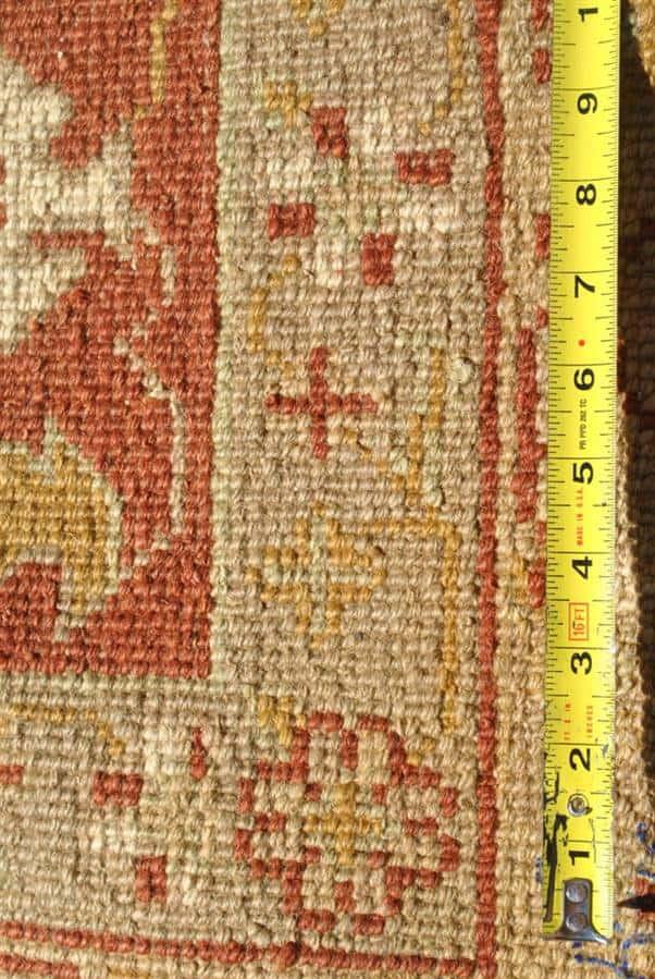 Monumental Oushak Hand Knotted Rug, Terra Cotta, Gold, Same Border 12 ft x 18 ft