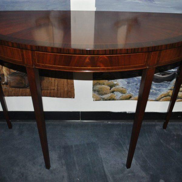 Leighton Hall Demilune Console Table Hepplewhite