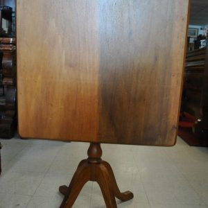 Antique Tilt Top Table, Square, Solid Wood, Circa 1900