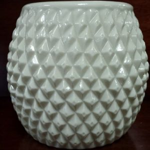 "Vintage Belleek Porcelain Diamond Biscuit Jar, No Lid, 5.5""H"
