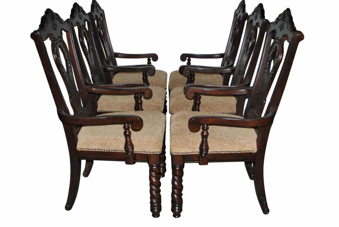 6 never used castle style armchairs