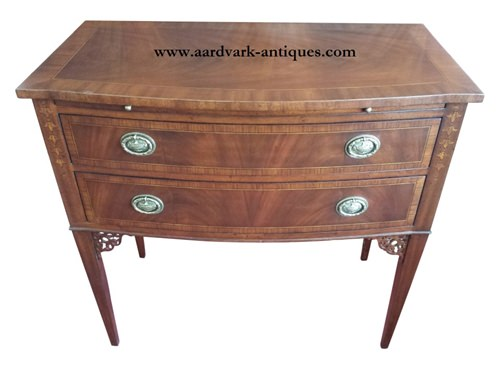 "Floor Sample Leighton Hall, Server, Console, Mahogany, 19""D X 34""H X 36""W, Retail $2,500"