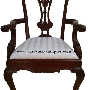"Floor Sample, Leighton Hall Ball & Claw Chippendale Style ""18th Century"" Mahogany Fine Dining Armchair"