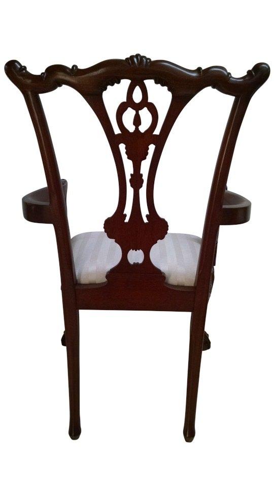 "Floor Sample, Leighton Hall Ball & Claw Chippendale Style ""18th Century"" Mahogany Fine Dining Armchair"