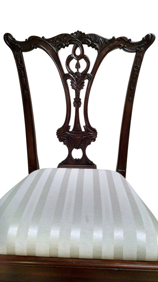 "Floor Sample, Leighton Hall Ball & Claw Chippendale Style ""18th Century"" Mahogany Fine Dining Side Chair"