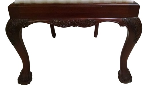 """Floor Sample, Leighton Hall Ball & Claw Chippendale Style """"18th Century"""" Mahogany Fine Dining Side Chair"""