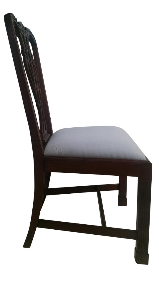 "Floor Sample, Leighton Hall Chippendale Style ""Marlborough"" Mahogany Fine Dining Side Chair"