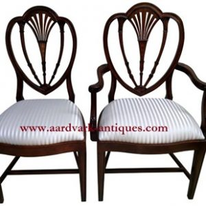 "Floor Sample, Set of 8 Leighton Hall  ""Hepplewhite"" Mahogany Fine Dining Chairs"