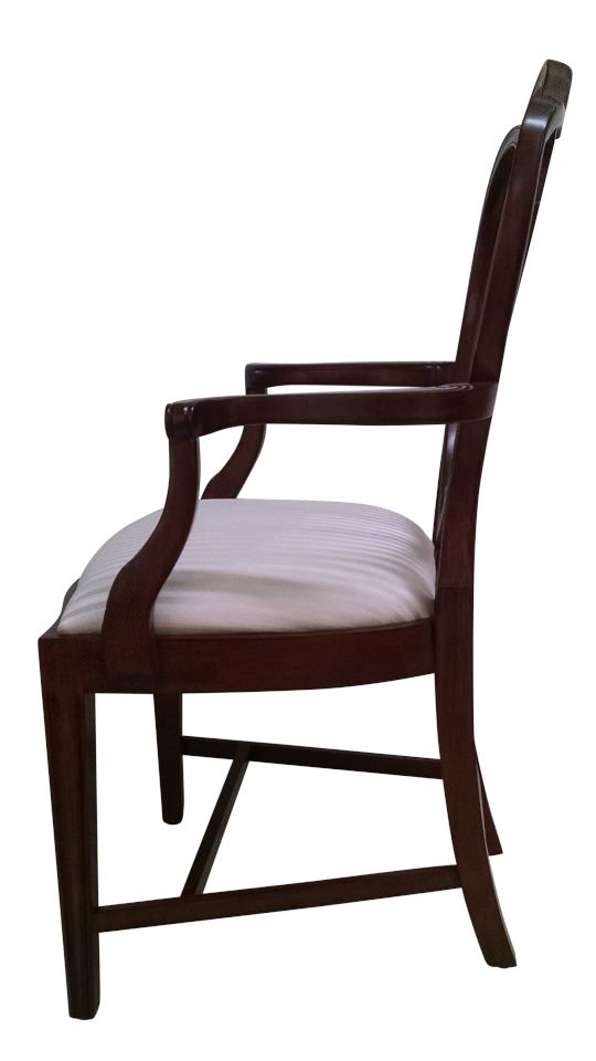 "Floor Sample, Leighton Hall  ""Hepplewhite"" Mahogany Fine Dining Armchair"
