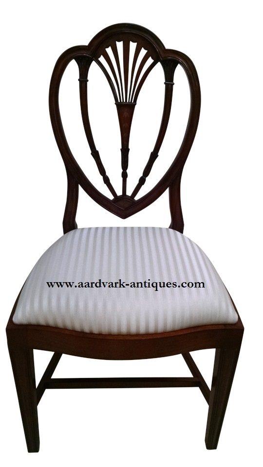 "Floor Sample, Leighton Hall  ""Hepplewhite"" Mahogany Fine Dining Side Chair"