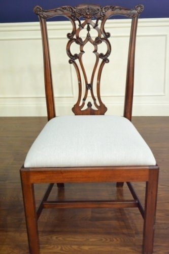 "Floor Sample, Leighton Hall Chippendale Style ""James"" Mahogany Fine Dining Side Chair"