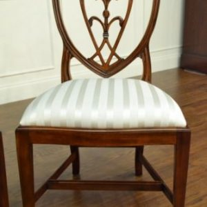 "Floor Sample, Leighton Hall Sheraton ""Shield Back"" Mahogany Fine Dining Side Chair"