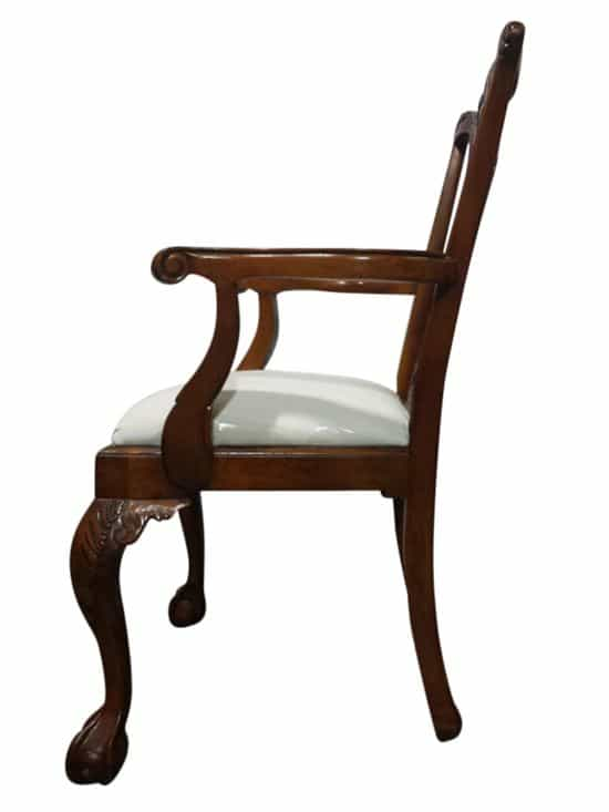 Leighton Hall Chippendale Style Mahogany Dining Chairs