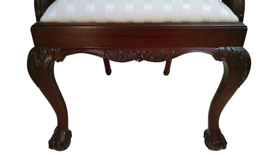 """Floor Sample, Set of 8 Leighton Hall Ball & Claw Chippendale Style """"18th Century"""" Mahogany Fine Dining Chairs"""