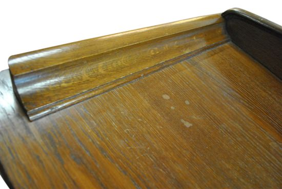 "Antique Solid English Oak Wood French Bow Front Side Board, 61""W x 53""H,  Circa 1920"