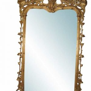 "Large Carved Venetian Mirror Gold Gilt, 38.5""W x 70""H, Retail $12,000"