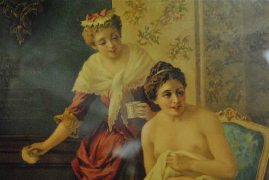 "Beautiful Framed  Print, Lady Bathing at Trenton & Turkish Baths 11.5"" x 15.75"""