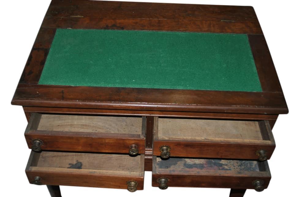 Antique Victorian Walnut Spool Cabinet Table, Victorian Walnut Spool Cabinet  Table Desk, Walnut Spool Cabinet Desk