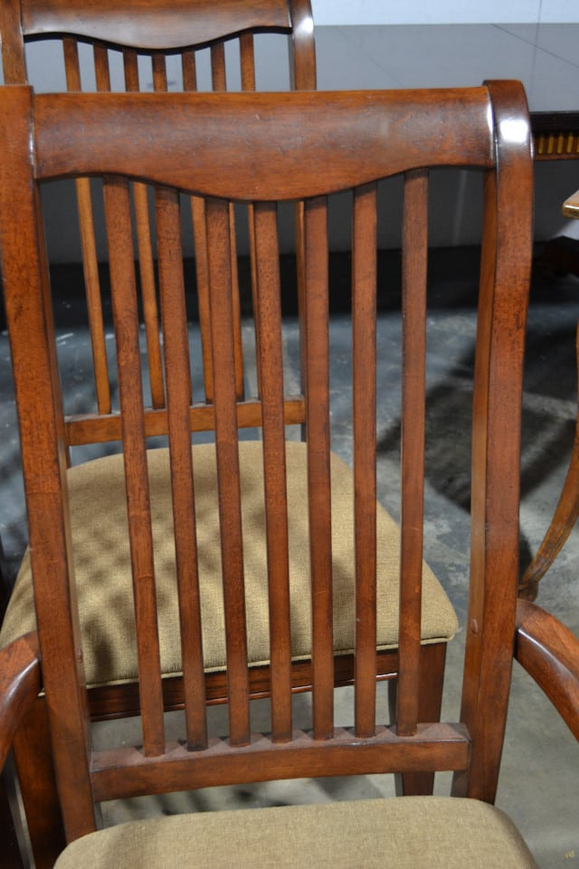 Set Of 6 Floor Sample Drexel Heritage Slat Back Dining Chairs Retail 2500 Pa3199