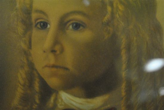 """Antique Portrait Print Of Young Victorian Girl With Ringlets,  16"""" x 20"""""""