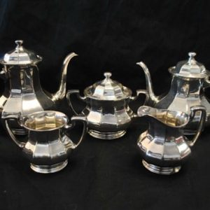 6 Piece Reed & Barton Silver Plate Coffee Tea Service Set, # 3940, Excellent