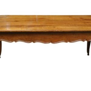 Antique 18th Century Country French Dining Table, Solid Cherry, Hoof Feet