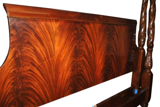 "New Leighton Hall Plantation King Poster Bed Flaming Mahogany, 95""H"