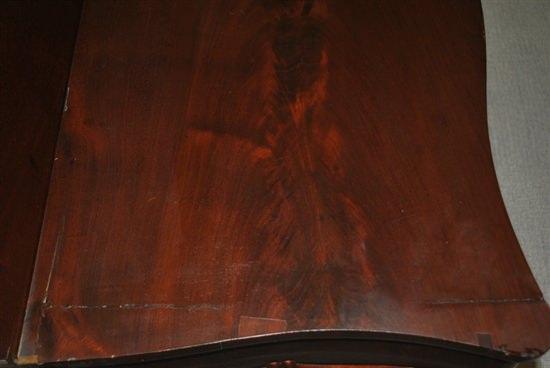 "Antique Flaming Mahogany Empire Flip Top Game, Card Table, Circa 1840 36""W"