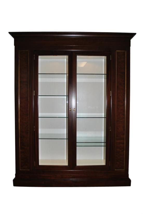 "Showroom Sample Councill Langdon China Cabinet, Brownstone Collection, 82""H"