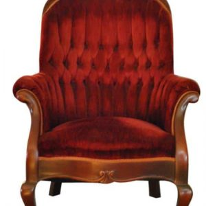 Exquisite Antique Victorian Walnut Burgundy Tufted Velvet Armchair Ca 1880