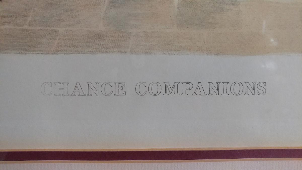 Walter Dendy Sadler Etching Chance Companions 1872 38 x 32 PA4251