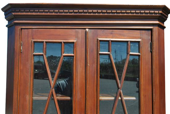 """Hand Carved Solid Mahogany Georgian Style Corner Cabinet 76""""H"""